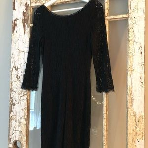 Aritzia Wilfred black lace dress